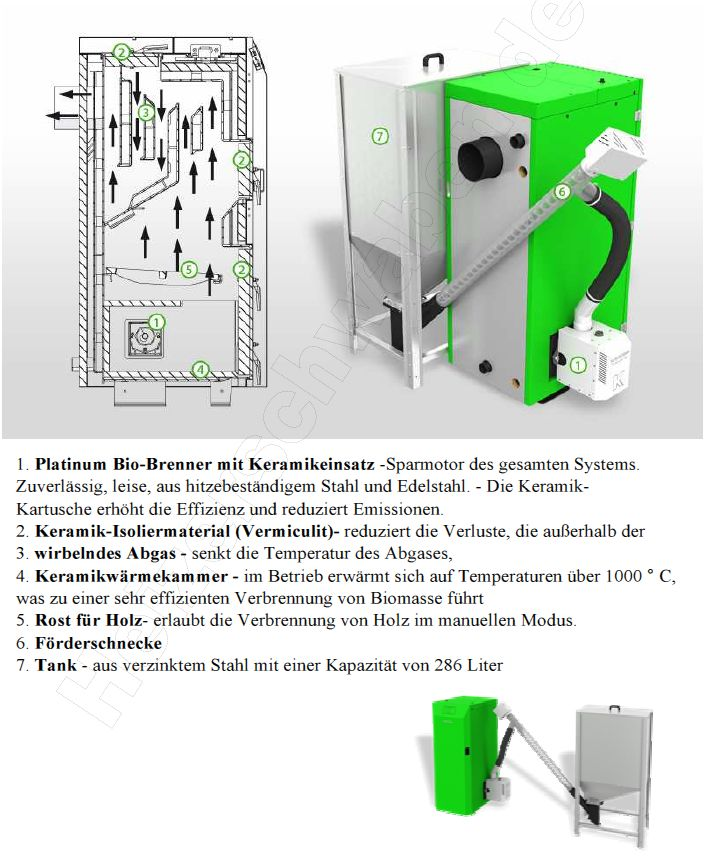 twin bio 24 kw pelletheizung bafa kombikessel pellets und holz ebay. Black Bedroom Furniture Sets. Home Design Ideas